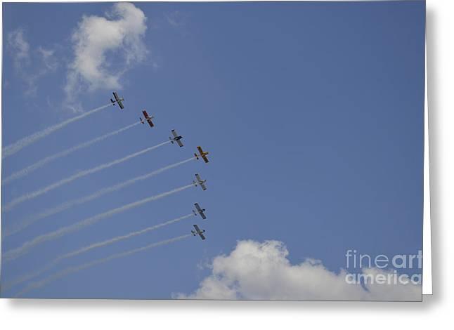Cooperation Greeting Cards - Team Rv Aerobatics Team Greeting Card by Stocktrek Images