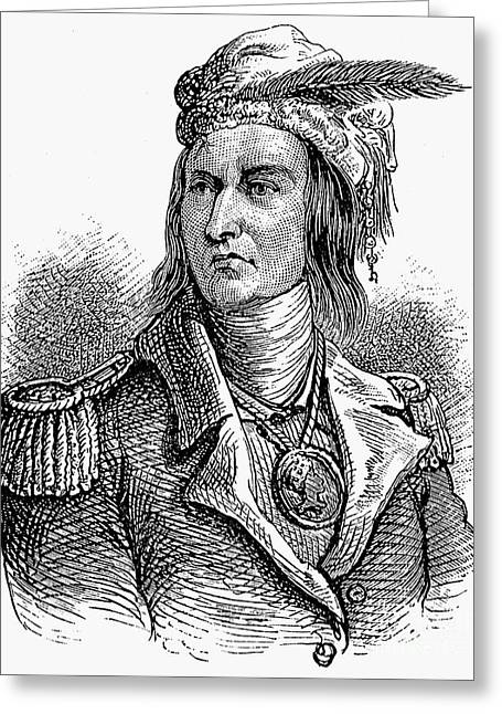 Native American Portraits Photographs Greeting Cards - Tecumseh (1768?-1813) Greeting Card by Granger
