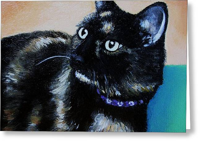 Photos Of Cats Paintings Greeting Cards - Teddy Greeting Card by Kay Mashburn