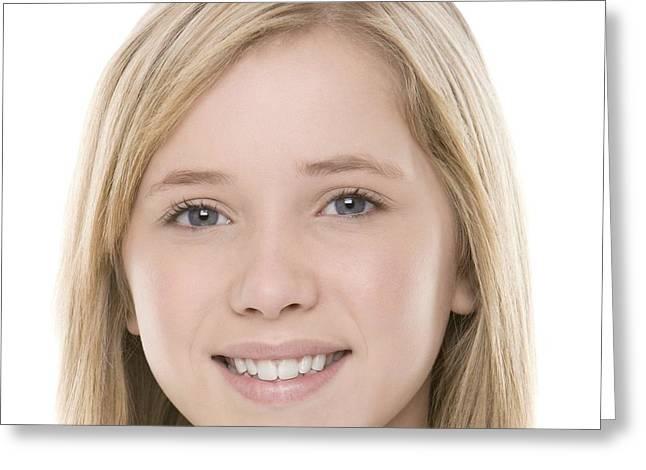 12-13 Years Greeting Cards - Teenage Girl Greeting Card by