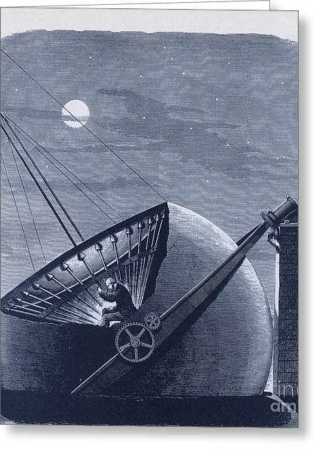 1874 Greeting Cards - Telescope Designed By Daniel C. Chapman Greeting Card by Science Source