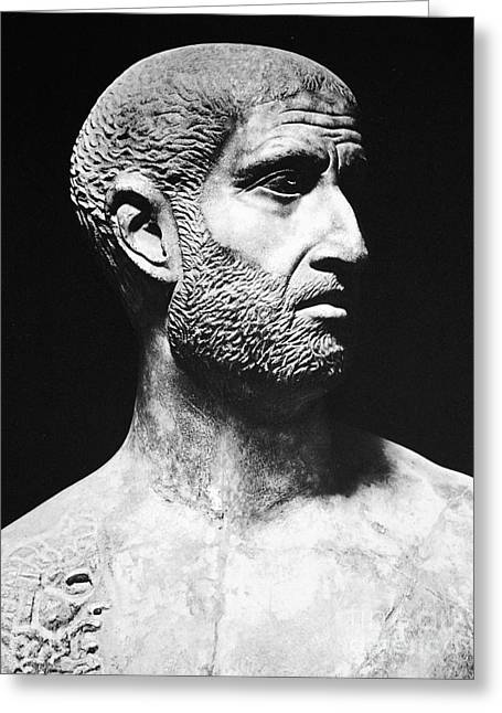 Statue Portrait Greeting Cards - Terence (186?-159 B.c.) Greeting Card by Granger
