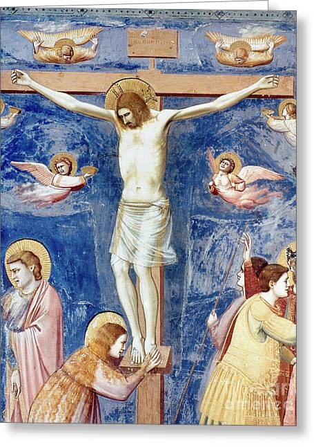 Bondone Greeting Cards - The Crucifixion Greeting Card by Granger