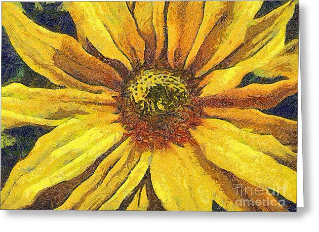 Czintos Abstract Greeting Cards - The flower Greeting Card by Odon Czintos