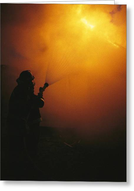 Bravery Greeting Cards - The Sewanee Volunteer Fire Department Greeting Card by Stephen Alvarez