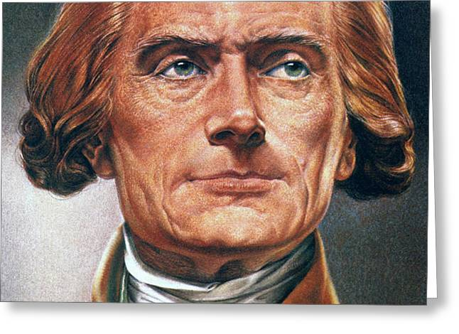THOMAS JEFFERSON (1743-1826) Greeting Card by Granger