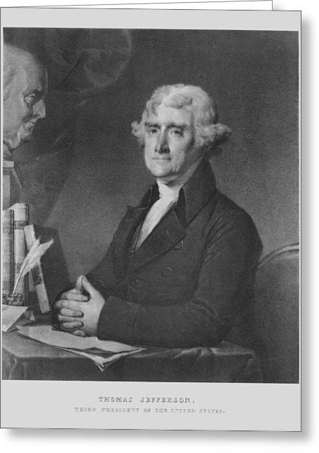 Us Founding Father Greeting Cards - Thomas Jefferson Greeting Card by War Is Hell Store