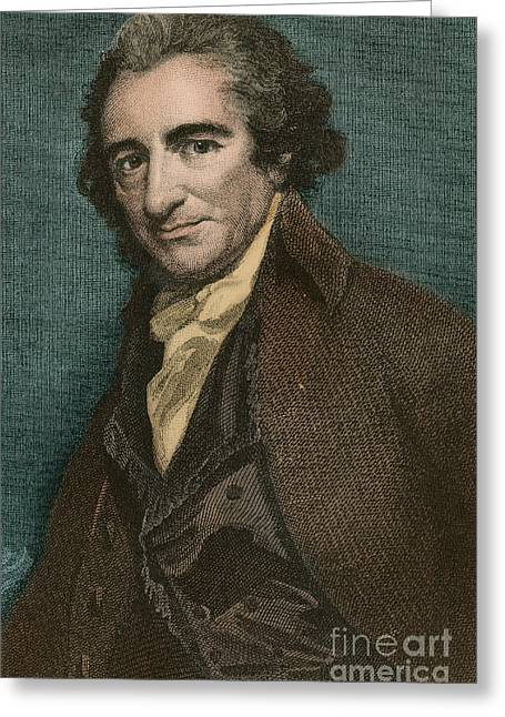Rights Of Man Greeting Cards - Thomas Paine, American Patriot Greeting Card by Photo Researchers