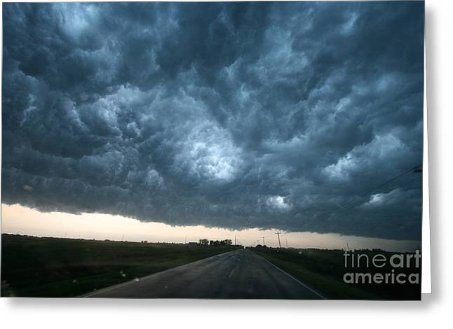 Rotate Greeting Cards - Thunderstorm And Supercell Greeting Card by Science Source