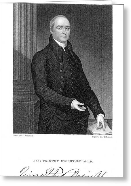 Timothy Greeting Cards - Timothy Dwight (1752-1817) Greeting Card by Granger