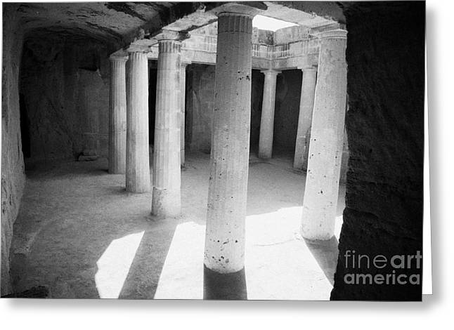 Pafos Greeting Cards - Tomb 3 Of Tombs Of The Kings World Heritage Site Paphos Republic Of Cyprus Greeting Card by Joe Fox