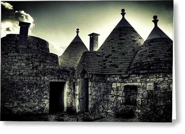 Trulli Greeting Card by Joana Kruse
