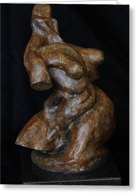 Movement Sculptures Greeting Cards - Twist of Fate the Dancer Greeting Card by Dan Earle