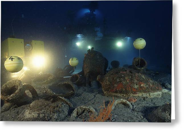 Surveying Greeting Cards - Underwater Archaeology Greeting Card by Alexis Rosenfeld
