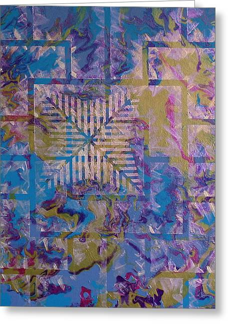 Beauty Tapestries - Textiles Greeting Cards - Untitled Greeting Card by Austin Zucchini-Fowler