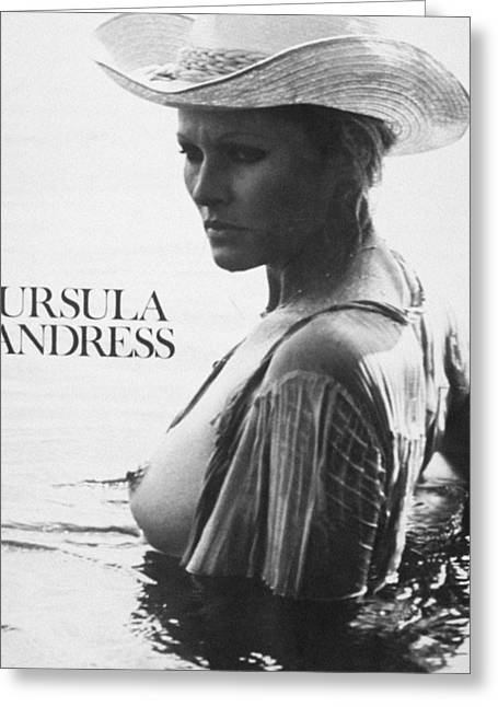 1960s Portraits Greeting Cards - URSULA ANDRESS (b. 1936) Greeting Card by Granger