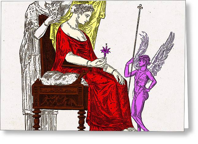 Goddess Of Love Greeting Cards - Venus, Roman Goddess Of Love Greeting Card by Photo Researchers