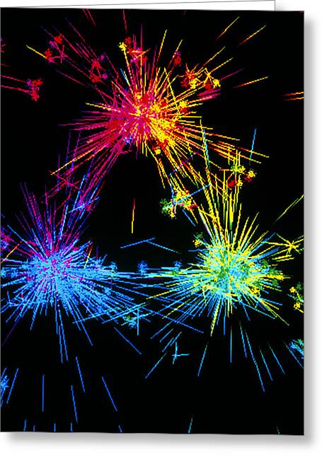 Quark Greeting Cards - Visualisation Of Quark Structure Of Proton Greeting Card by Arscimed