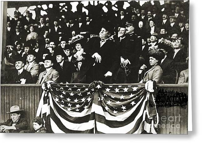 Washington Dc Baseball Greeting Cards - William Howard Taft Greeting Card by Granger