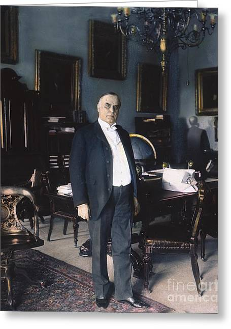 The White House Photographs Greeting Cards - WILLIAM McKINLEY (1843-1901): Greeting Card by Granger
