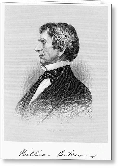 Seward Greeting Cards - William Seward (1801-1872) Greeting Card by Granger