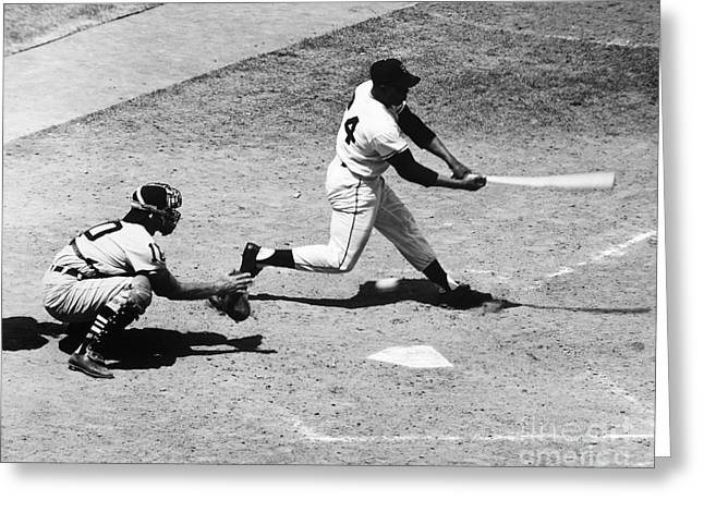 African-american Greeting Cards - Willie Mays (1931- ) Greeting Card by Granger