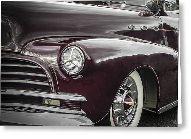 Tricked-out Cars Greeting Cards - 3 Window Barris Chevy Greeting Card by Chuck Re