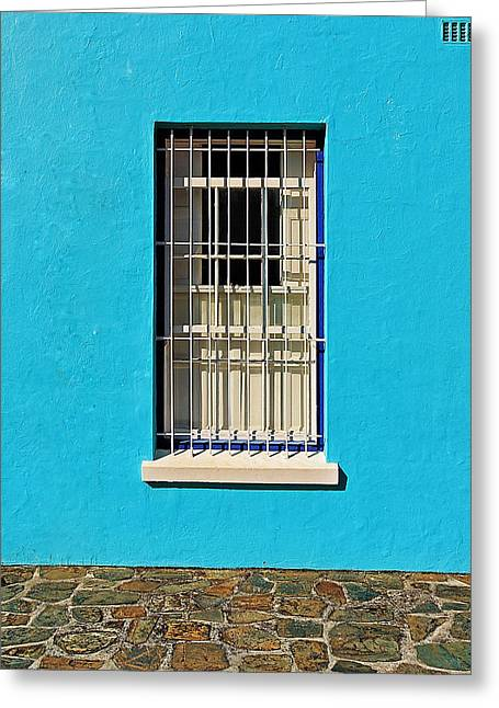 Turquois Greeting Cards - Windows of Bo-Kaap Greeting Card by Benjamin Matthijs