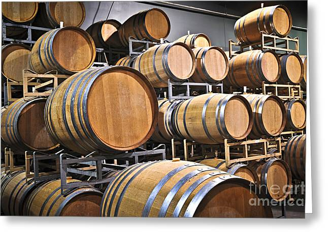 Cooperage Greeting Cards - Wine barrels Greeting Card by Elena Elisseeva