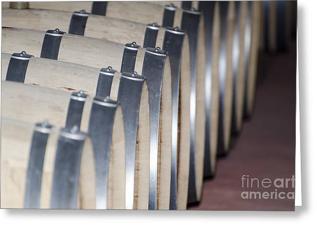 Wine Barrels Greeting Card by Mats Silvan