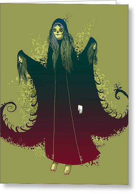 Goth Greeting Cards - 3 Witches Greeting Card by Michael Myers