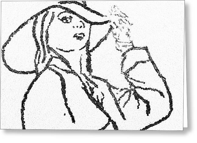 Woman Greeting Card by Natalya A