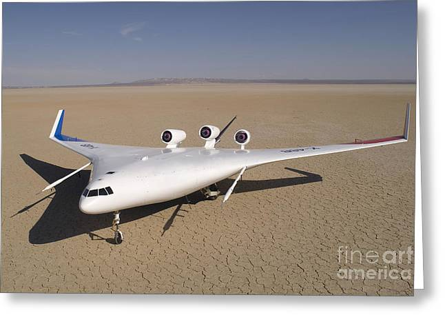 Aeronautics Greeting Cards - X-48b Blended Wing Body Unmanned Aerial Greeting Card by Stocktrek Images