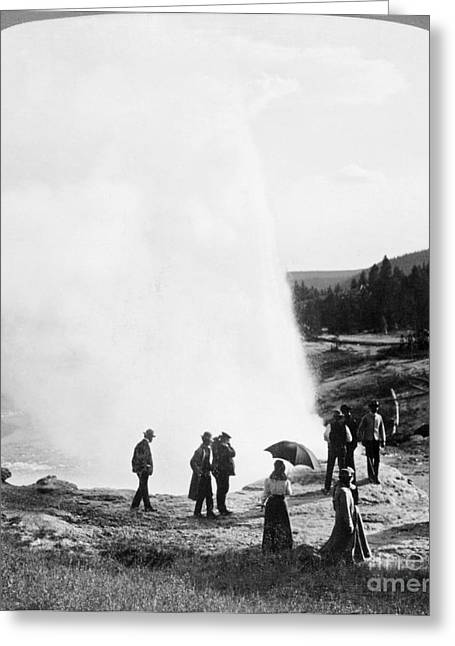 1907 Greeting Cards - Yellowstone Park: Geyser Greeting Card by Granger