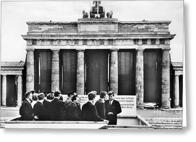 West Berlin Greeting Cards - John F. Kennedy (1917-1963) Greeting Card by Granger