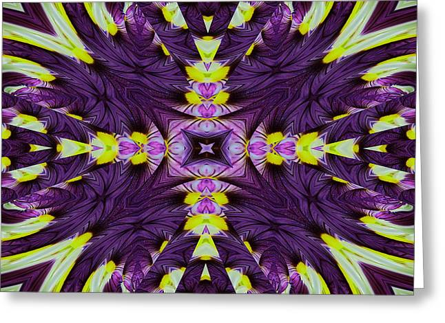 Floral Digital Art Digital Art Greeting Cards - Pansy Greeting Card by Michele Caporaso