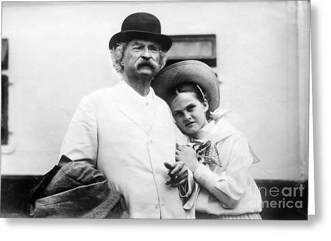 1907 Greeting Cards - Samuel Langhorne Clemens Greeting Card by Granger