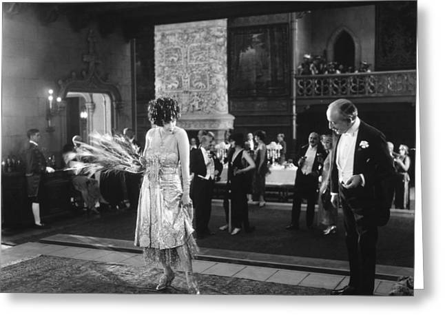 Ball Gown Greeting Cards - Silent Still: Man & Woman Greeting Card by Granger
