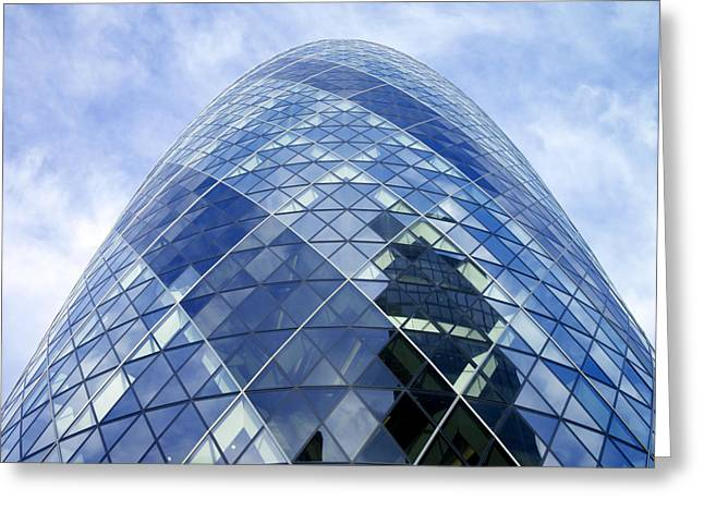 Emergence Greeting Cards - 30 St Mary Axe Is A Building In Londons Greeting Card by Justin Guariglia