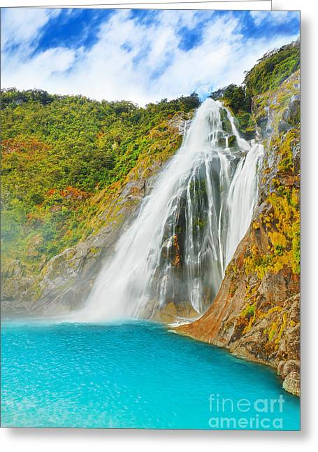 Waterfall Greeting Card by MotHaiBaPhoto Prints