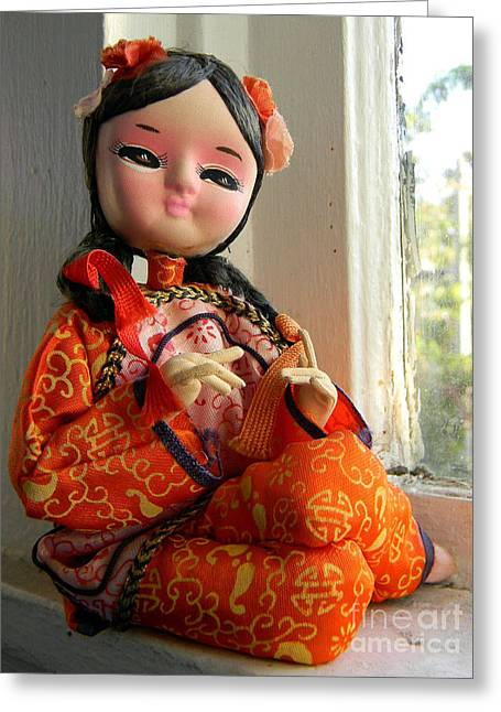 Doll Greeting Cards - 30022 Greeting Card by Anita V Bauer