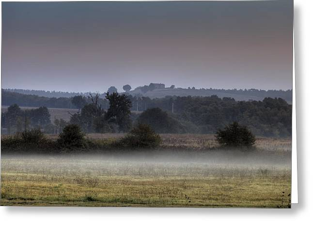 Fog Mist Greeting Cards - Tuscany Greeting Card by Joana Kruse