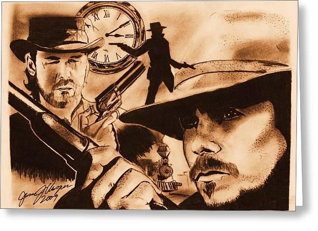 Christian Bale Greeting Cards - 310 to Yuma Greeting Card by Jason Kasper