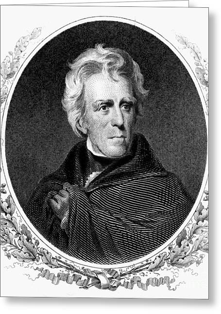 Sully Greeting Cards - Andrew Jackson (1767-1845) Greeting Card by Granger