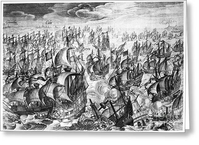 Overboard Greeting Cards - Spanish Armada, 1588 Greeting Card by Granger