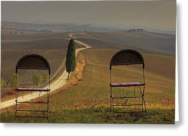 Hazy Photographs Greeting Cards - Tuscany Greeting Card by Joana Kruse
