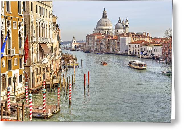 Salute Greeting Cards - Venezia Greeting Card by Joana Kruse