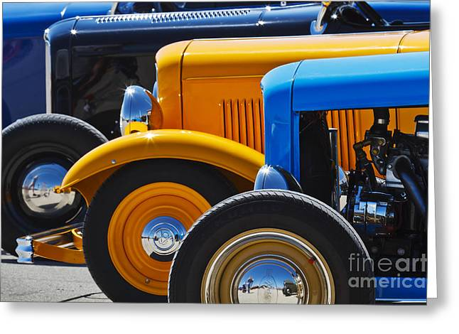 Deuce Coupe Greeting Cards - 32 X 3 Greeting Card by Dennis Hedberg