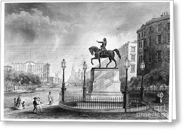 Union Square Greeting Cards - George Washington Greeting Card by Granger