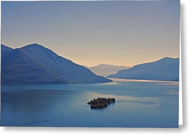Lago Greeting Cards - Lake Maggiore Greeting Card by Joana Kruse
